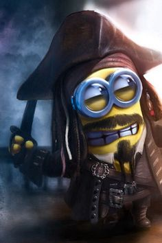 Oh my god!!!!! I love minions and Pirates of the Caribbean sooooooo much xD this just made my day :))