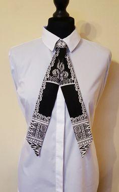 Sharik - Versatile Dashiki African Print Cravat/ Necktie/ Neckwear with press stud tab fastener by UrbanizedNeckwear on Etsy