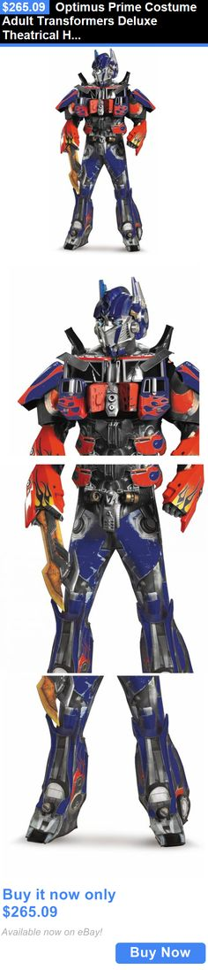 Halloween Costumes Men: Optimus Prime Costume Adult Transformers Deluxe Theatrical Halloween Fancy Dress BUY IT NOW ONLY: $265.09