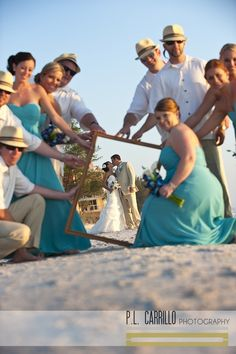 this is so cute....possible vow renewal op with our girls holding the frame...