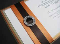 Fall Wedding Invitation Classic Elegant by decadentdesigns on Etsy, $9.00