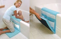 These make bath time more comfortable for parents. Check these out. They come in many variations.