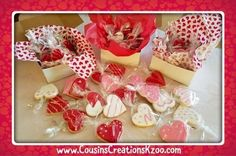 Valentine's Day Cookies Custom Cookies by Cousin's Creations - Cousin's Creations