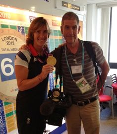 Katherine Grainger and ITN Cameraman Jim Dutton