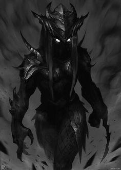 Dark spirit, from a mysterious fallen warrior