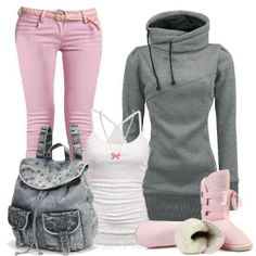 Pink and gray! :)