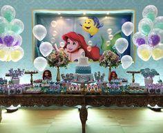 THE LITTLE MERMAID BIRTHDAY PARTY DECORATIONS A PEQUENA SEREIA ARIEL FESTA INFANTIL.15