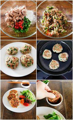 How to Make Korean Style Tuna Cakes   MyKoreanKitchen.com