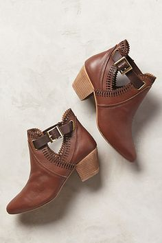 Bamboo Mash 03 Tan Laser Cut High Heel Booties | Heels, Shorts and ...