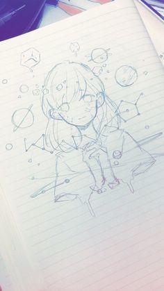 idk this isnt mine Anime Drawings Sketches, Anime Sketch, Kawaii Drawings, Cool Drawings, Cartoon Kunst, Cartoon Art, Pretty Art, Cute Art, Anime Hand