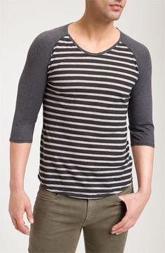 Nudie Stripe Baseball T-Shirt at Nordstrom