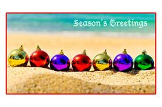 Season greetings. Christmas cards. Christmas at the beach: http://www.pinterest.com/complcoastal/christmas-by-the-beach/