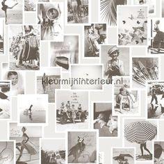 Nostalgische fotocollage fotowand behang 30604, Memories Riviera Maison van BN Wallcoverings