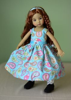 """SOLD """"Paisleys!"""" Dress, Outfit, Clothes for 13"""" Dianna Effner Little Darling #LuminariaDesigns"""