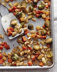 Martha Stewart's Whole Living Roasted Winter Vegetables with Cannellini Beans