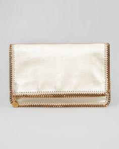 Stella McCartney Gold Clutch Bag