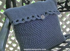 Country Cottage cushion - Loveknitting blog