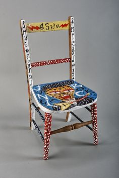 'Jungle Rock Chair' by Jonny Hanah (Acrylic and enamel paint on wooden chair)