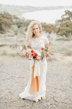 Embrace a free spirit, nonconformist ideals and the wanderlust way of life, it's no wonder there is whimsical meets earthy bohemian wedding trend occurring. Warm Colour Palette, Color Palettes, Boho Chic, Bohemian, Strictly Weddings, Bridal Portraits, Wedding Trends, Earthy, Floral Arrangements