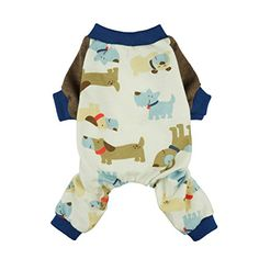Made of soft and comfy cotton fabric Perfect for everydays wear, sleeping time and photos Adorable dog pajamas in exclusive prints