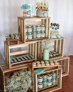 Planning your breakfast at tiffanys wedding shower party, here 25 ideas to copy 13 Baby Shower Themes, Baby Boy Shower, Shower Ideas, Baby Shower Vintage, Rustic Baby, Candy Table, Partys, Shower Party, Bridal Shower Menu