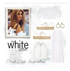 """""""The White Album"""" by conch-lady ❤ liked on Polyvore featuring Rosie Assoulin, Alexander McQueen, Manebí, The Row and Chanel"""