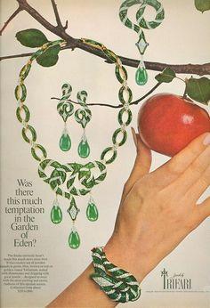 Trifari jewelry ad ...so much temptation
