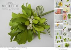 A fabulous DIY tutorial!! Learn to make gorgeous Sugar Mistletoe with the oh-so-amazing Jacqueline Butler of Petalsweet Cakes!!