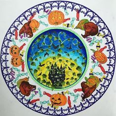 My review of Rhapsody in the Forest Colouring Book by Kanoko Egusa, featuring this Halloween Mandala!