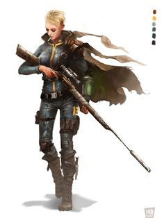 ArtStation - Sniper Character Fallout, Maxime Brienne