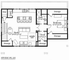 Apartment over a 3-car garage, link is broken, but like this layout
