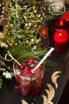 Best drink of the night! Maple Bourbon Cranberry Cocktail. www.premierwed.com Premier W.E.D. 2014 Holiday Happy Hour!
