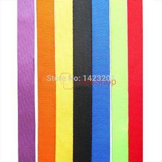 "25 Yards / Lot 16mm 5/8"" Nylon Webbing Ribbon Buckles Clips For Strap Lanyard Hook Belt Craft"