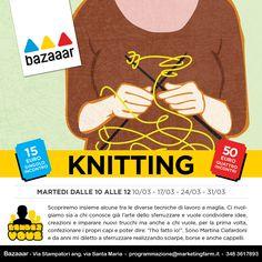Quattro appuntamenti mattutini in cui si scopriranno alcune tra le diverse tecniche di lavoro a maglia. A cura di Martina Ciafardoni. www.bazaaar.it/rendez-vous/