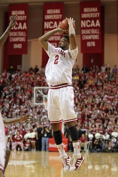"Christian Watford, Indiana Basketball. 12/10/11 IU upsets #1 Kentucky 73-72. The ""Wat Shot."""
