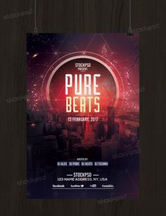Future Party Is A Free Psd Photoshop Flyer Template To Download