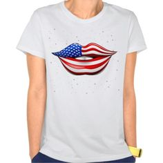 Sold this #USA_Flag #Lipstick on #Smiling #Lips #T_Shirt!   Many Thanks to the Customer! :)   http://www.zazzle.com/usa_flag_lipstick_on_smiling_lips_t_shirt-235681393345020666