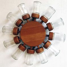 Kryddsnurra i teak av digsmed 50-tal 60-tal | spices rack teak by digsmed. Dansk design | damishockey design