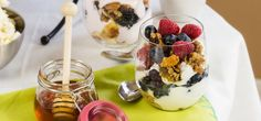 Build-your-own yogurt bars are a fun and easy addition to any afternoon brunch. Learn how to make your own with our list of simple yogurt parfait bar ideas. Set your yogurt bar up by sectionSet your yogurt bar up by grouping food sections like drinks, yogurt, toppings and a little somethin' extra together. Keep dishware, …