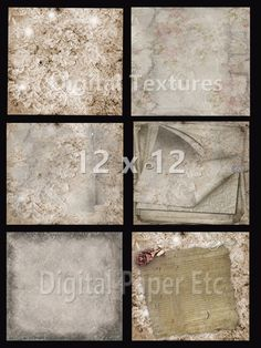 Digital Background, DAMASK TEXTURES, Grungy Textures, Grungy Digital Papers, Printable Grungy Papers, P 60 LA by digitalpaperetc on Etsy