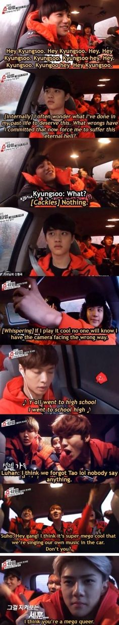 Haha What EXO was really saying/thinking while on their way to the sea! I laughed harder than I should have lol