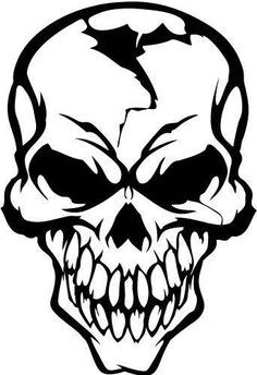 Buy Cool Skull Vinyl Decal Sticker Cracked Human Head Skull Motorcycle Stickers Moto Decals helmet Stickers Decoration at Wish - Shopping Made Fun Skull Tattoo Design, Skull Tattoos, Art Tattoos, Skull Stencil, Skull Artwork, Skull Drawings, Pencil Art Drawings, Tattoo Drawings, Drawing Tips