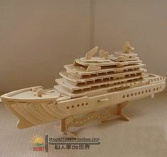 2015 New Rushed Juguetes Educativos Brinquedos Jugetes Kids Wooden Ship Model Puzzle Diy Wood Handmade Tetralogy Luxury Yacht Popsicle Stick Crafts, Craft Stick Crafts, Wood Crafts, Woodcraft Construction Kit, Wood Craft Patterns, Laser Cutter Ideas, Cnc Wood, Woodworking Toys, Diy Holz