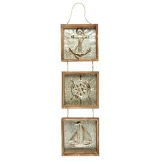 """One of my favorite discoveries at ChristmasTreeShops.com: 37"""" Ship Icons Galvanized Metal Wall Hanger"""