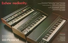"Retro Synth Ads: Roland ""Eschew mediocrity"" ad, Contemporary Keyboard 1979"
