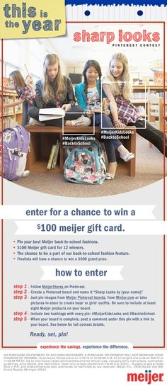 Enter for a chance to win a Meijer gift card!