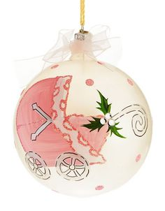 LORD & TAYLOR Baby Carriage First Christmas Ornament