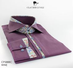 Cutaway Collar x Floral Detail || Claudio Lugli Men's Shirt