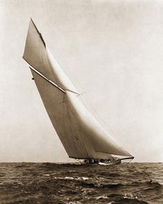 The beautiful behemoth Reliance handily defended the America's Cup in 1903 but she was such a freakish yacht the contests rules on design were changed when the race was won.