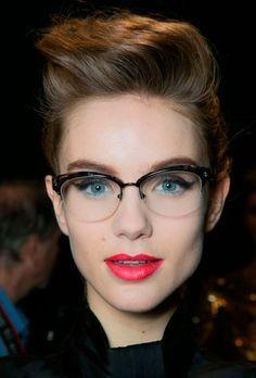 rimless glasses women - Google Search